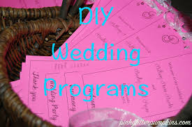 wedding programs diy diy wedding program pink glitter pumpkins