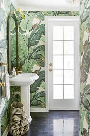 wallpaper designs for bathroom the 25 best palm leaf wallpaper ideas on tropical
