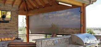 Roll Up Patio Screen by Patio Shades Driven By Lutron Insolroll