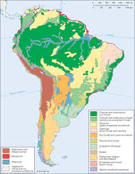 america climate zones map south america vegetation zones students britannica