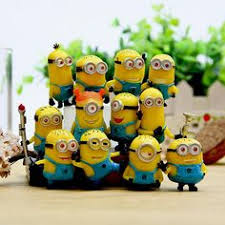 12pcs set opp pakcing despicable me 3 minions ornaments decoration