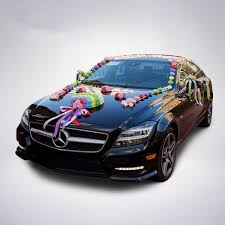 car ribbon 2017 new heart foam ribbon bowknot flower car wedding