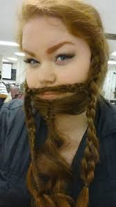 gimli halloween costume trending 10 women who braided their hair into beards that make