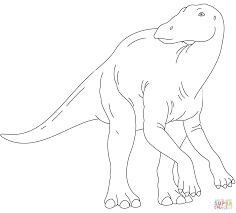 iguanodon dinosaur coloring page free printable coloring pages