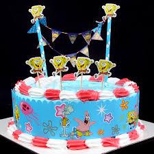 popular diy cake flag cartoon spongebob cake wrapper birthday