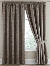 Pencil Pleat Curtains Silhouette Interlined Pair Lined Ready Made Pencil Pleat Curtains Grey