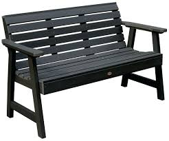 metal garden bench with table in middle black metal garden bench