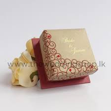 wedding photo box gold wedding cake box