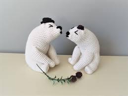 crochet polar bears amigurumi home decor kids boys girls gift