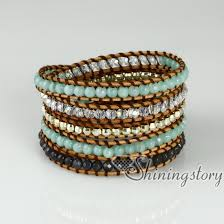 rose stone bracelet images Five layer beaded wrap bracelets gold silver nugget semi precious jpg