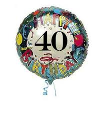 40th birthday balloons delivered 40th balloons party favors ideas