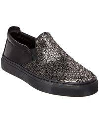 the flexx lights slip on sneakers lyst the flexx lights slip on sneaker in black