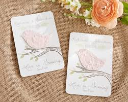seed paper wedding favors seed paper blossoms personalized garden wedding favor card