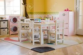 children u0027s playroom decorated for girls stock photo picture and