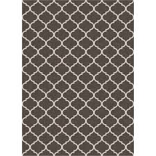 ruggable washable trellis gate rich grey 5 ft x 7 ft stain