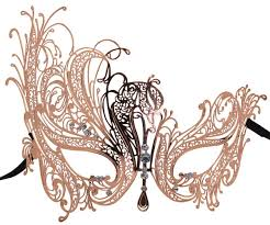 gold masquerade mask gold metal filigree swan masquerade mask