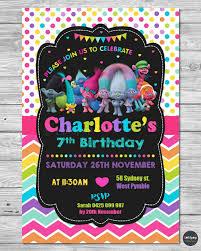 Personalised Birthday Invitation Cards Trolls Party Supplies Invitations Invite Personalised Birthday