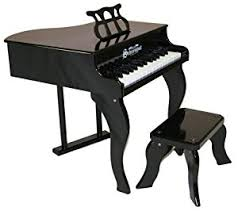Key Bench Amazon Com Schoenhut 30 Key Fancy Baby Grand With Bench Black