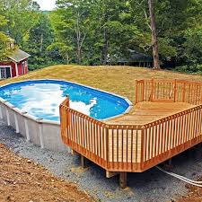 the awesome plans of above ground pool decks