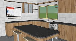 3d model kitchen design with island cgtrader