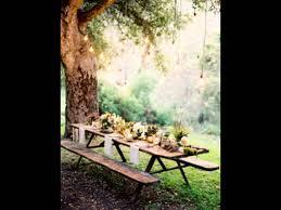 on picnic wedding ideas elegant table decorations youtube
