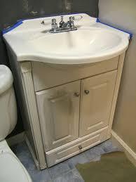 nine red quick sink cabinet makeover