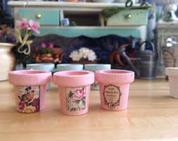 Shabby Chic Flower Pots by Flower Pot Sets Etsy