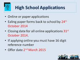high school applications online year 6 information meeting tuesday 30 th september ppt