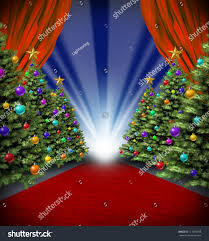 carpet holidays curtains trees stock illustration
