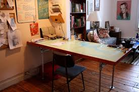 Diy Door Desk The Arting Starvist Diy Pipe Desk With Salvaged Door