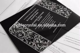 Wedding Invitations Montreal Glass Wedding Invitation Card Glass Wedding Invitation Card