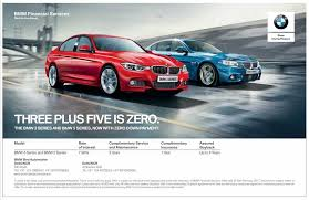 bmw payment bmw 3 series and 5 series now available with zero payment