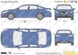 the blueprints com vector drawing hyundai sonata