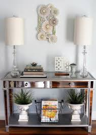 Entry Console Table Mirrored Console Table Eclectic Entry Houston By The Decor Fix