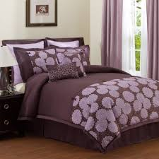 Black And Purple Bed Sets Bedroom Comely Purple And Brown Bedroom Decoration Using Light