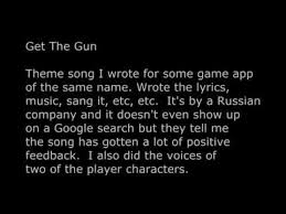 theme song quiz app get the gun theme song i wrote for a game youtube