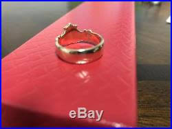 avery claddagh ring retired avery 14k yellow gold adorned claddagh ring size 7 5