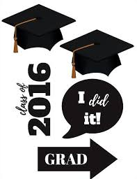 class of 2016 graduation graduation photo booth printables class of 2016 party props