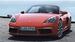 pink convertible porsche porsche finally reveals the 718 boxster with turbo flat 4 engines