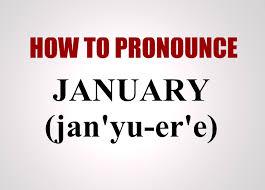 how to pronounce january youtube