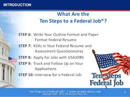 Usa Jobs Federal Resume by 10 Steps To Federal Job