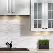 Fasade Backsplash Panels Reviews by Fasade Waves Matte White 18 In X 24 In Backsplash Panel Free