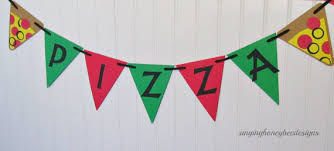 party banner pizza party banner pizza birthday party junk food party slumber