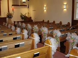 Wedding Pew Bows Ceremony Pew And Chair Decorations