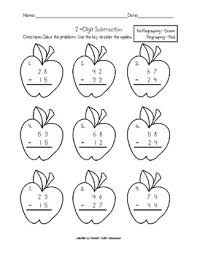 single digit subtraction without regrouping two digit subtraction without regrouping worksheets worksheets