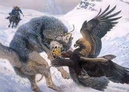 an eagle to catch and kill a wolf tetrapod zoology