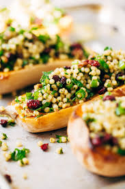 stuffed butternut squash with curried couscous salad recipe