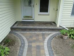 exterior marvelous front yard and outdoor flooring design using