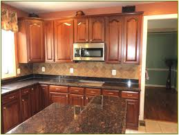 granite countertop antiqued white kitchen cabinets refrigerant