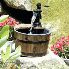 Bedroom Fountain Inspiring Bedroom Water Fountain Wood Metal Wood Barrel Outdoor
